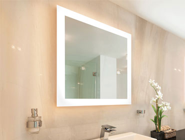 Un espejo iluminado